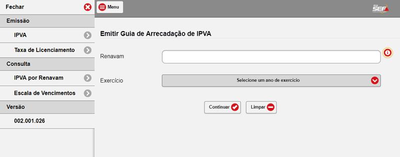 Boleto IPVA MG