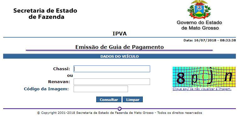 Consulta IPVA MT